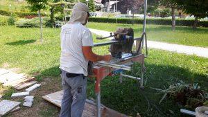 rezanje pranih betonskih plošč