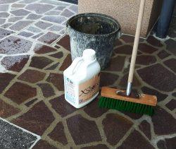 čiščenje madežev cementa