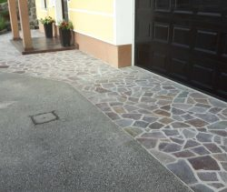 porfido s cementnimi madeži
