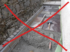 prepovedano polaganje porfido kamna